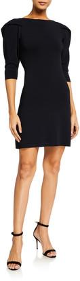 Stella McCartney Puff-Sleeve Compact Knit Dress