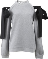MSGM Cold Shoulder Tie Sweatshirt