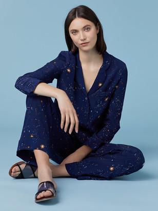 Diane von Furstenberg Halsey Crepe De Chine Pajama Top
