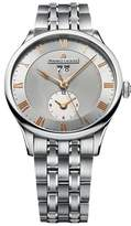Maurice Lacroix Mp6707-Ss002-111 Men's Masterpiece Auto Dual Time Ss -Tone Dial Ss Watch