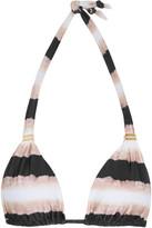 Vix Bia Tie-dye Printed Bikini Top - Black