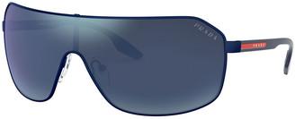 Prada Men's Rimless Metal Sunglasses - Mirrored