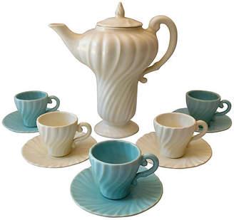 One Kings Lane Vintage California Pottery Demitasse Set - 12 Pcs - The Montecito Collection