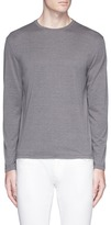 Isaia Silk-cotton long sleeve T-shirt
