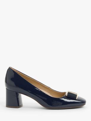 John Lewis & Partners Aisling Patent Leather Block Heel Court Shoes