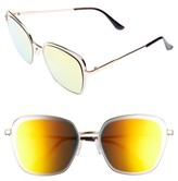 Leith Women's 55Mm Square Sunglasses - Gold/ Gold