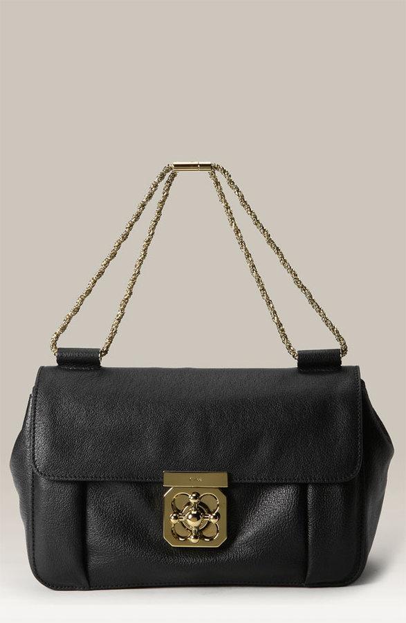 Chloé 'Elsie - Medium' Buffalo Leather Shoulder Bag