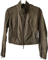 Porsche Design Khaki Leather Jacket for Women