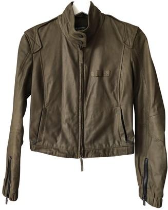 Porsche Design Khaki Leather Jacket for Women