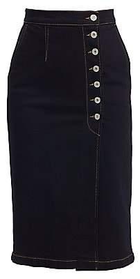 Trave Women's Olympia Denim Midi Pencil Skirt