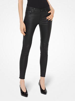 MICHAEL Michael Kors MK Selma Leather Skinny Pants - Black - Michael Kors