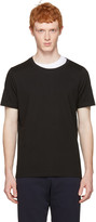 Maison Margiela Black Layered Collar T-shirt