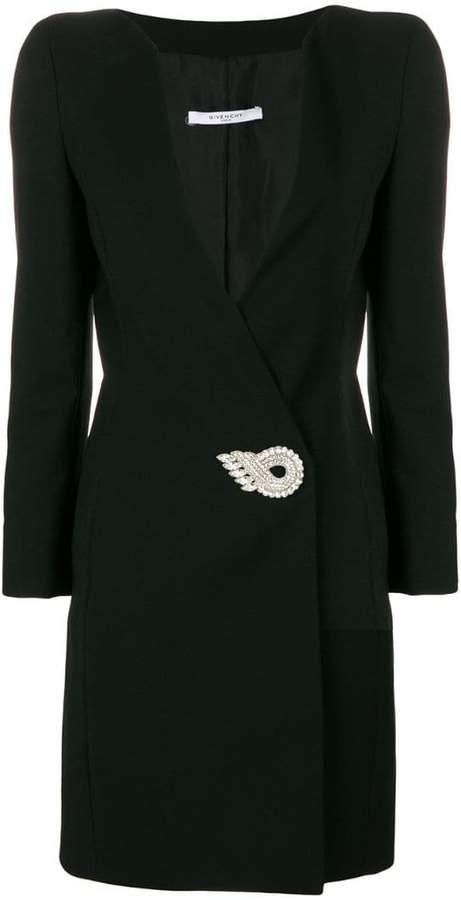 Givenchy embellished V-neck dress