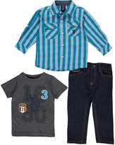 "U.S. Polo Assn. Baby Boys' ""Multi Woven"" 3-Piece Outfit"