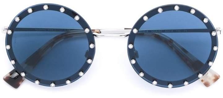 Valentino Eyewear studded round glasses