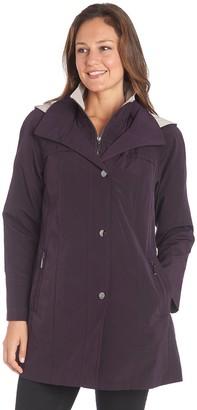 Fleet Street Women's Faux-Silk Hooded Lightweight Jacket