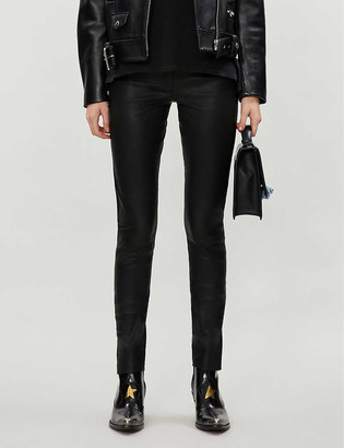 Topshop Boutique skinny leather trousers