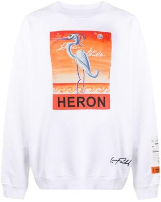 Heron Preston Heron Print Oversized Sweatshirt