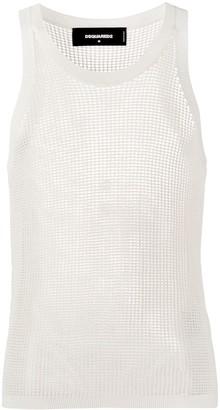 DSQUARED2 Crochet-Mesh Tank Top