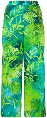 Versace Jungle print cropped trousers
