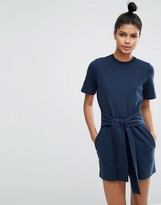 Asos Lounge Sweat Romper with Tie