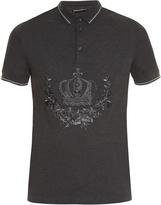 Dolce & Gabbana Crown-embroidered polo shirt