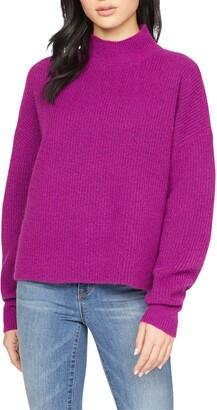Sanctuary Fuzzy Mock Neck Sweater