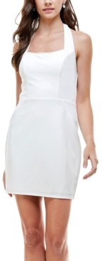 City Studios Juniors' Halter-Neck Bodycon Dress