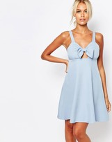 Fashion Union Cami Babydoll Dress with Bow Front