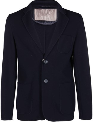 Herno Blue Wool Cardigan