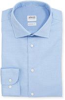 Armani Collezioni Modern-Fit Textured Dress Shirt, Light Blue