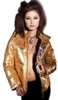 Ed Hardy Womens Skull Roses Puffer Jacket