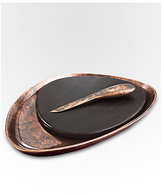 Nambe Heritage Pebble Cheeseboard & Knife