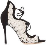 Tabitha Simmons 'Cali Daisy' sandals - women - Cotton/Calf Leather/Leather - 37.5