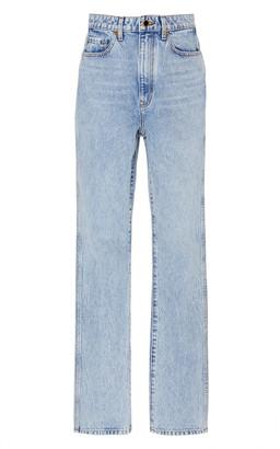 KHAITE Daria High-Rise Straight-Leg Jeans