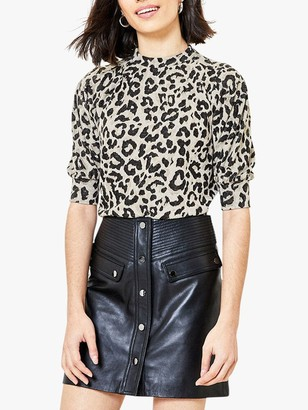 Oasis Leopard Cosy Sweater, Natural
