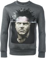 Neil Barrett graphic print sweatshirt - men - Polyurethane/Viscose - M