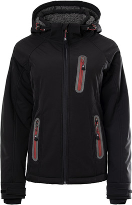 Passenger - Womens Softshell Fleece with Hood Liberty - S   black   polyester - Indigo/Black/Purple