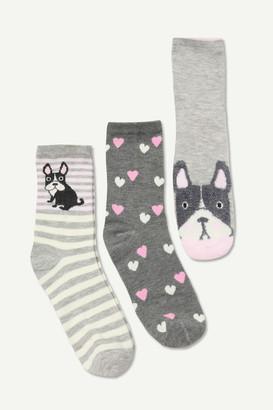Ardene Bulldog Crew Socks