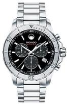 Movado Series 800 Chronograph Watch, Silver/Black
