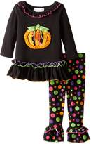 Bonnie Baby Baby Girls' Multi Dot Pumpkin Legging Set