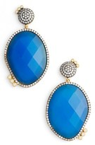 Freida Rothman Women's Baroque Blues Drop Earrings