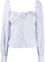 Jonathan Simkhai striped button-through top