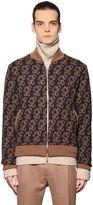 Etro Tapestry Wool Intarsia Bomber Jacket