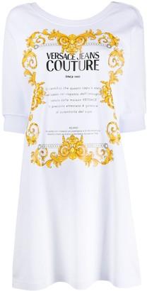 Versace Logo Print Sweater Dress