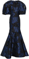 Thumbnail for your product : Zac Posen Fluted Floral-jacquard Gown