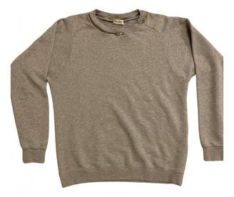 Saint Laurent Grey Cotton Knitwear & Sweatshirts