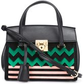 Salvatore Ferragamo chevron pattern crossbody bag
