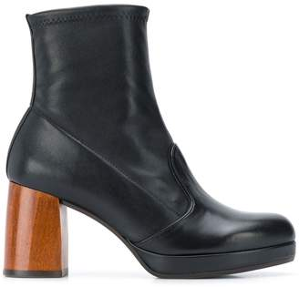 Chie Mihara chunky ankle boots