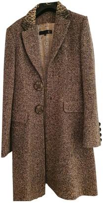Roberto Cavalli Beige Wool Trench Coat for Women